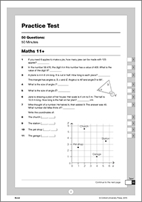 Bond 11+ maths test