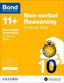 Cover image -Bond Non-verbal Reasoning 10 Minute Tests 8-9 years