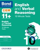 Bond 11+: English & Verbal Reasoning: CEM 10 Minute Tests :10-11 years
