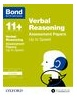 Cover image - Bond Verbal Reasoning Up to Speed Practice 9-10 years