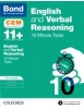 Cover image - Bond 11+: English & Verbal Reasoning: CEM 10 Minute Tests :10-11 years